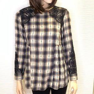 4/$30 Zara Woman Plaid Shirt Size XS